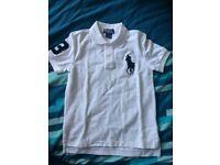 Boys white Ralph Lauren Polo shirt
