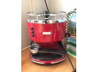 Delonghi coffee machine red