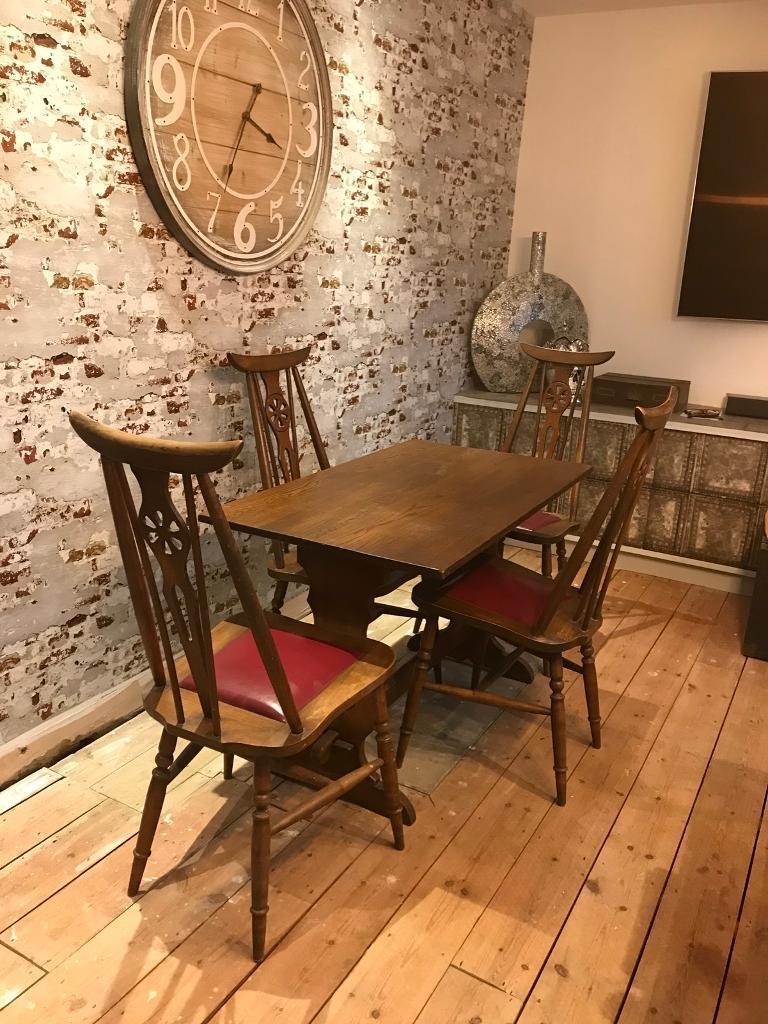 Small Vintage Dining Table And Chairs