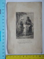Antico Santino Holy Card Jesus Maria Monsignor Dobrilla Trieste Capodistria 1878 -  - ebay.it