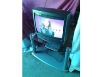 TV / Television Matui 20 inch & Pacific Freeview Box & glass TV Stand / Table ~FREE DELIVERY~