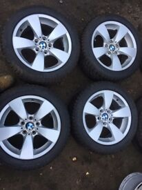 BMW 5 SERIES 17 INCH ALLOYS WITH 4 WINTER TYRES