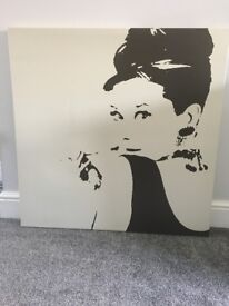 Audrey Hepburn retro canvas