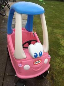 Little tykes pink car
