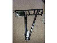 Bicycle pannier rack - black, new and unused
