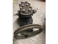 Compressor vintage suit stationary engine
