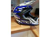 Blue kids wolfsport helmet kids xl 53cm to 54cm