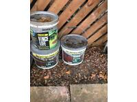 Fence paint 3 large tubs