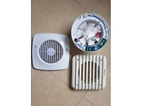 """Simply Silent DX150S 6""""/150mm Square Extractor Fan With Humidistat And Timer"""