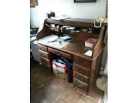 Beautiful roll top hardwood desk