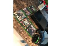 Xbox one bundle with 5 games, headset, one controller