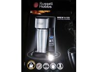 Russell Hobbs Brew and Go Coffee Machine - Stainless Steel and Silver
