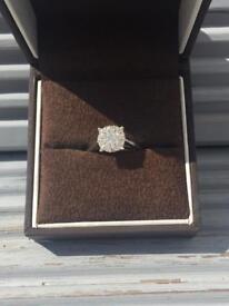 Diamond Cluster - 18ct White Gold - 50ct Diamonds (Ernest Jones)