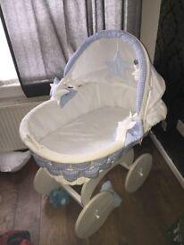 Baby's wicker basket