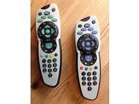 2 SKY TV CONTROLLERS