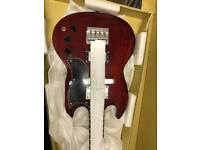 Westfield B2000 Classic EB3 Vintage SG Shape Electric Bass Guitar - Cherry Red