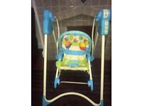 Fisher Price 3 in 1 Swing 'n Rocker (Used Condition)