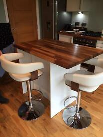 Solid wood Walnut worktop offcut
