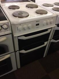 PLATED 60. CM BEKO ELECTRIC COOKER NICE CONDITION