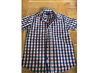Boys Gap short sleeved checked shirt