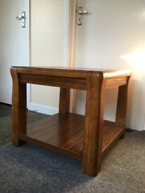 Solid wood coffee table/side table with shelf under