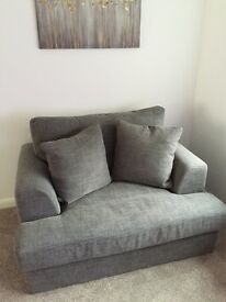 Three seater with chaise-longue and snug chair from Next, absolutely immaculate condition.