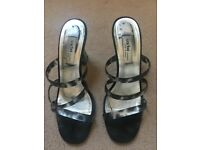 Ladies Sacha sandals, size 40, £10, Perspex (clear) heel of approx. 3 inches.