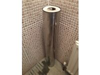 Glass sink/basin and pedestal and tap