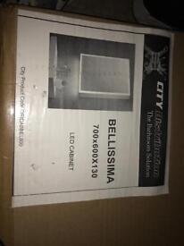Bellissima 700x600x130 led mirror cabinet