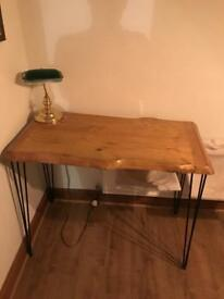 Desk - table - rustic office or kitchen