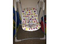 Bran new baby swing/seat been used once.