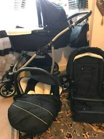 3 in 1 Qabro travel system pushchair in very good condition purchase price £280