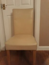 Chairs x4 plus x2 free due to wear and tear