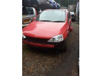 2004 vauxhall corsa sri 1.6 petrol BREAKING FOR SPARE PARTS