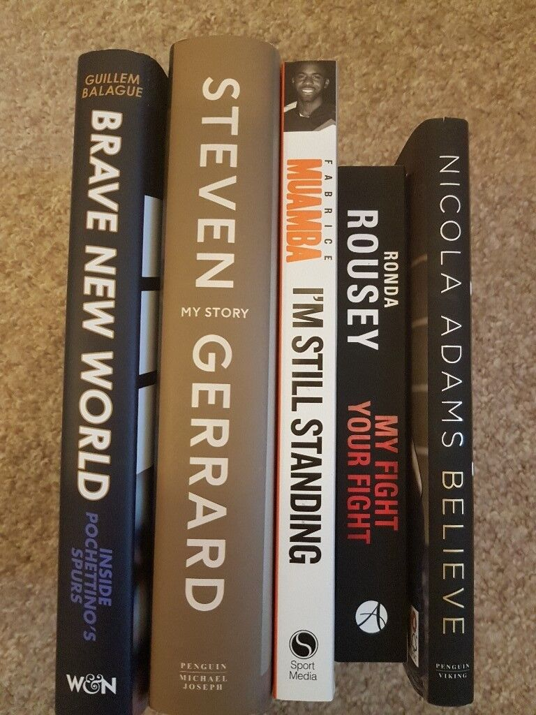 5 sports books for sale