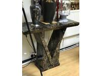 Mocha marble console table