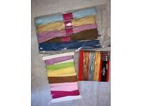 Bundle of Arts Crafts Coloured Raffia IP1
