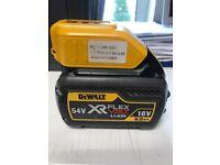 DeWALT 54V X-RAY FLEX VOLT LI-ION 18v battery.