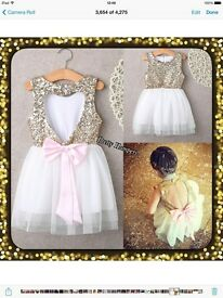 Gold glitter dresses age 3&4
