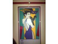 1987 La Nouvelle Mardi Gras Framed Poster Limited Edition 64/100 signed