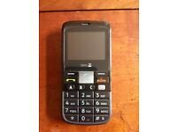 Doro PhoneEasy 332gsm sim-free easy mobile phone with case - black