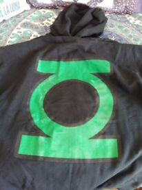 Green Lantern zippered hoodie, size L, NEW!
