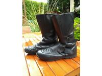 Motorcycle Boots. Prexport, Leather, Waterproof