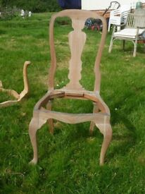 Beautiful hand carved hardwood dining chairs x 6.