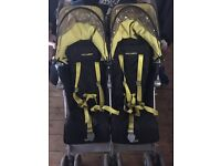 Maclaren Twin Techno black and yellow