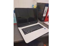 HP 14inch 2.x1.6 intel core 4g ram 1tb hdd white with bag