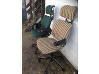 Refurbished human scale freedom chairs