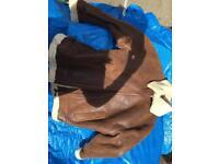 Sheepskin coat Brown Tan