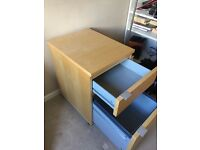 Drawer unit with 2 draws on castors, W40 D51 H62. £15 ono, collection or can deliver locally