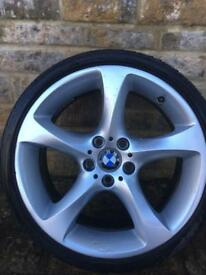 "BMW 19"" 225mm alloy with long life potenza tyre."
